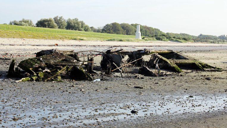 Het ontplofte caisson. © ANP Beeld