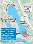 De locatie van de vissers en de rest van de Berendonck.