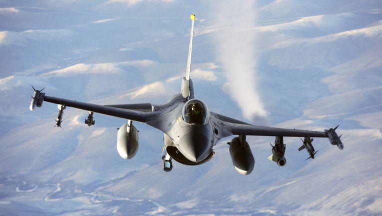 Een F-16 gevechtsvliegtuig (archieffoto). Beeld anp