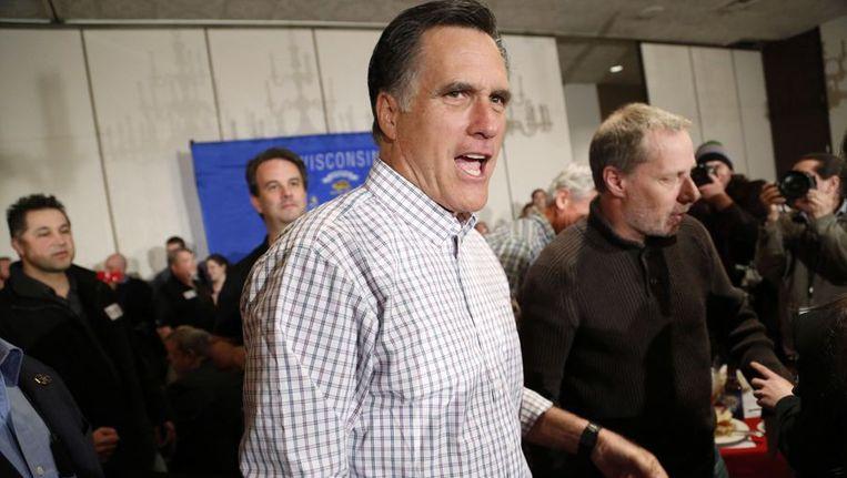 De Republikeinse presidentskandiaat Mitt Romney Beeld reuters