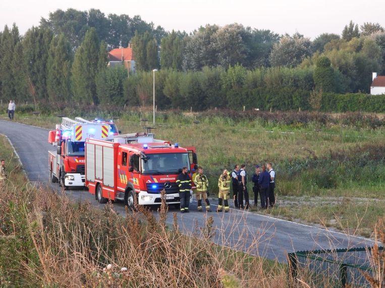 De transformator vatte vuur langs de Baron De Maerelaan