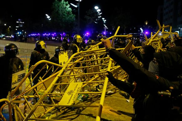 Protest in Girona vandaag.