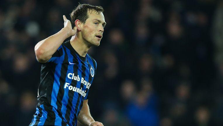 Tom De Sutter, aanvaller bij Club Brugge. Beeld BELGA