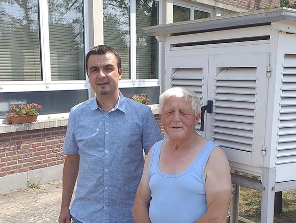 Burgemeester Bert Ceulemans en Julius Wuyts
