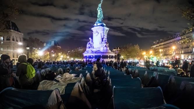 Franse politie ontmantelt tentenkamp in Parijs