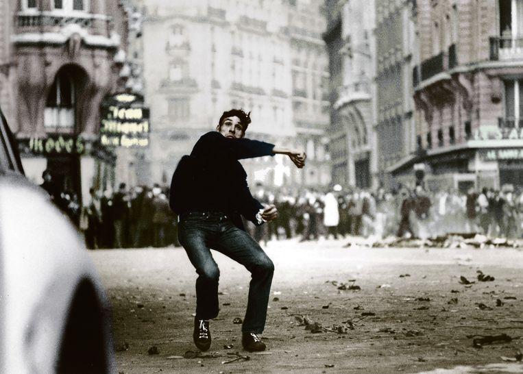 De studentenrevolte in mei 1968 in Parijs. Beeld RV