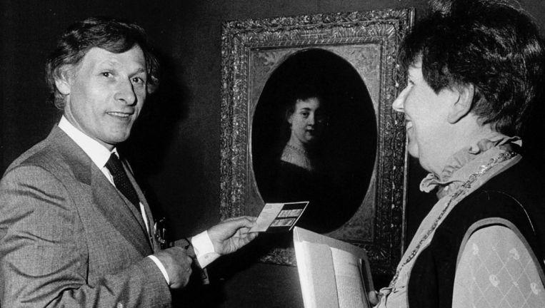 Simon Levie (links) in 1983. Beeld ANP