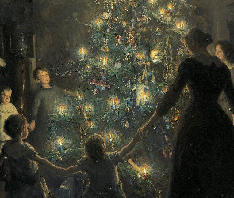 Detail uit 'Stille nacht' van Viggo Johansen. Beeld The Hirschsprung Collection