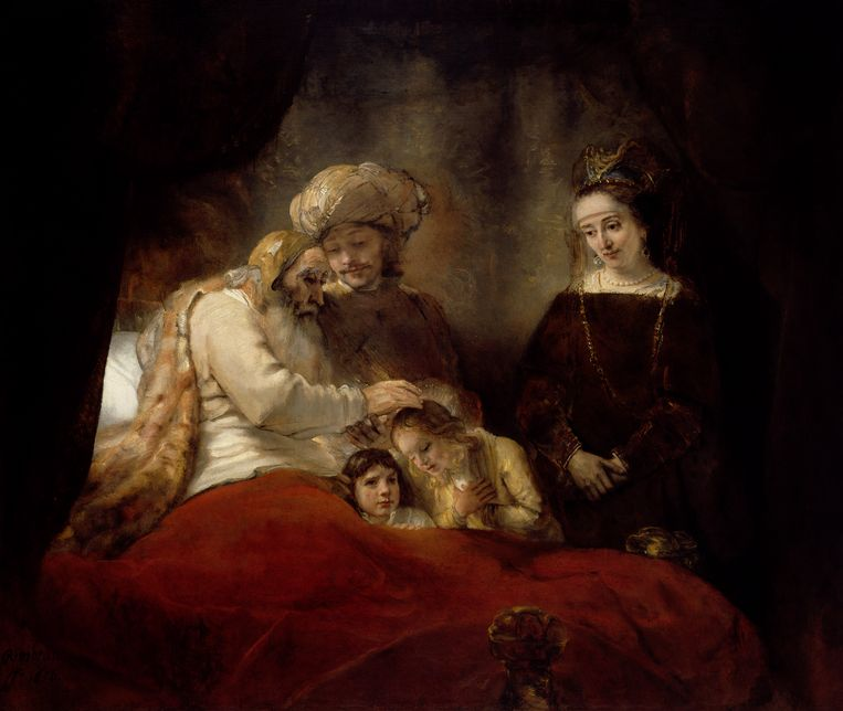 Rembrandt, 'Jakob zegent de zonen van Jozef', 1656. Beeld Museumslandschaft Hessen Kassel, Gemäldegalerie Alte Meister, Kassel