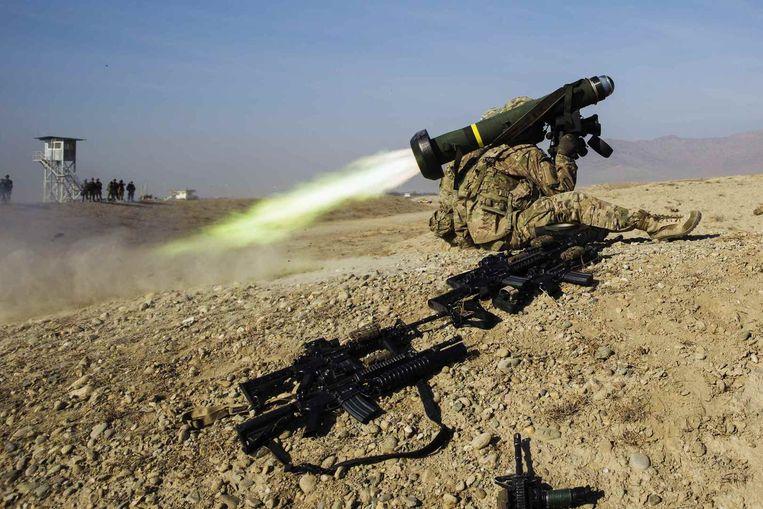 De VS zal deze Javelin niet aan Kiev leveren, maar lichtere systemen kunnen wél richting Oekraïne verhuizen. Beeld Reuters