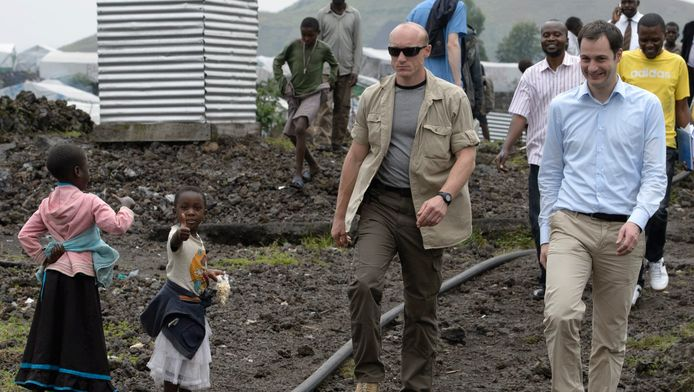 Minister van Ontwikkelingssamenwerking Alexander De Croo bij zijn bezoek aan Congo in februari.