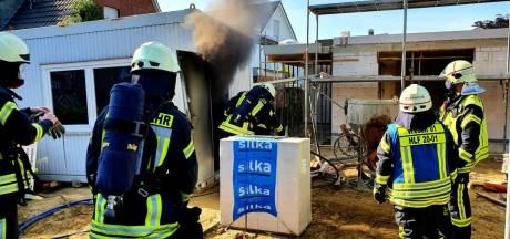 Brandje in schaftcontainer op bouwplaats in Vreden