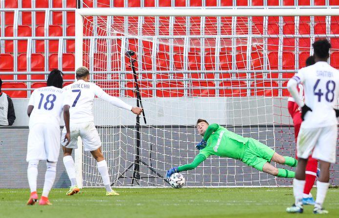 Cette fois, Lukas Nmecha n'a pas fait mouche sur penalty.