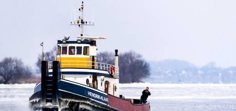 Hinder van ijs en wind, schippers moeten omvaren