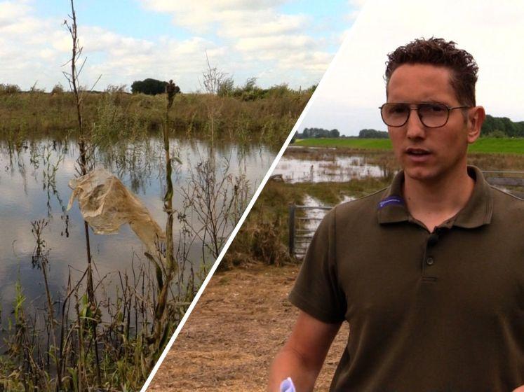 De waterschade opnemen: 'Je kan stoffelijke overschotten vinden van mensen en dieren'