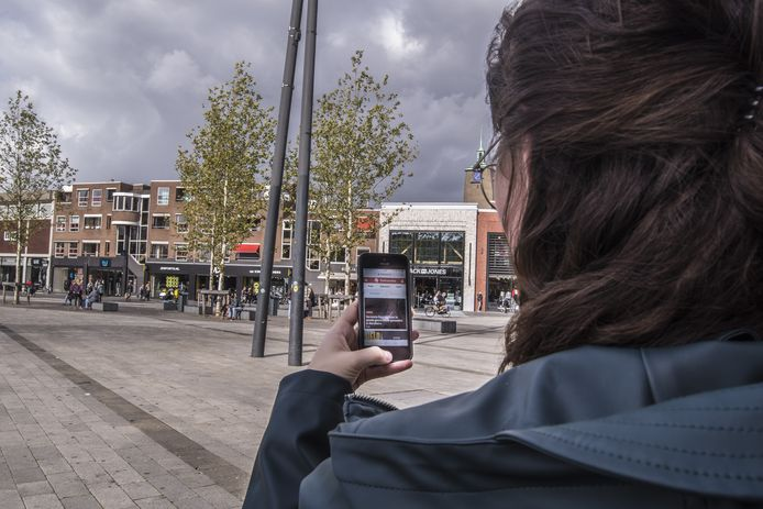 Wifitracking in de binnenstad van Enschede.