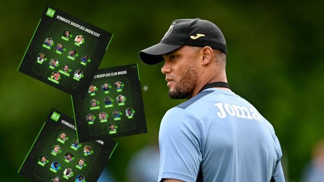 Héél wat nieuwe namen bij Anderlecht, geen enkele bij Club: de verwachte basisploegen van de topclubs voor speeldag 1
