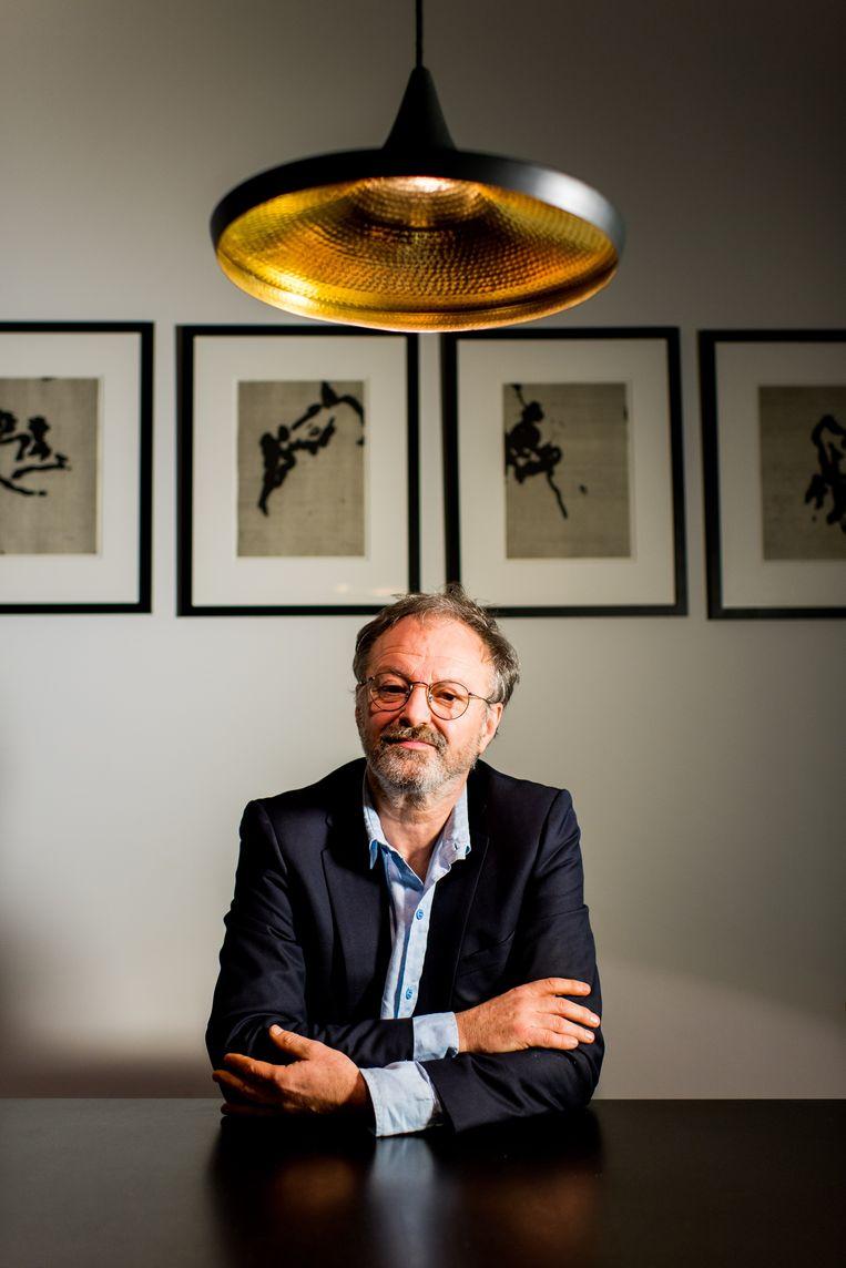 Luc Coorevits. 'Mijn zoon Leander kan beter met mensen omgaan dan ik.' (lacht) Beeld Dries Luyten