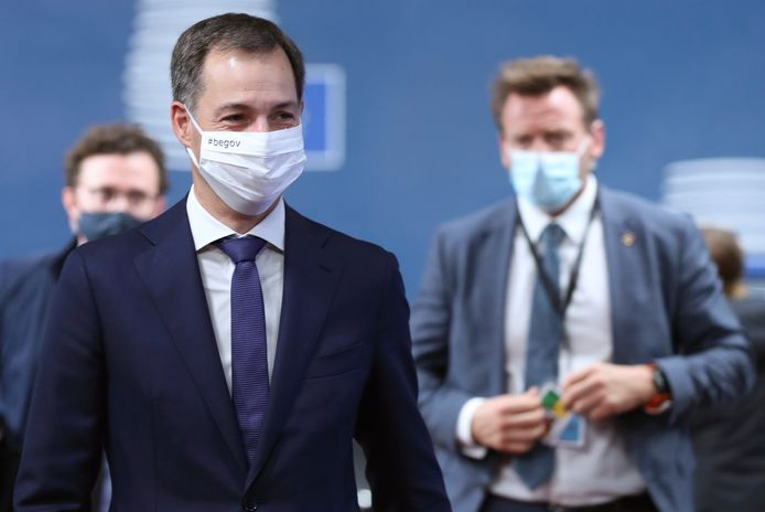 Alexander De Croo à son arrivée au Conseil européen.