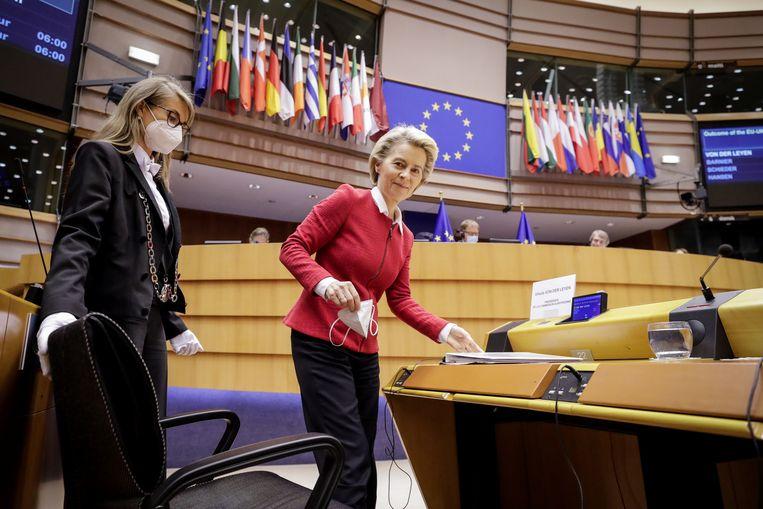 Ursula von der Leyen, voorzitter van de Europese Commissie, noemt het fonds 'de kans van de eeuw'. Beeld REUTERS