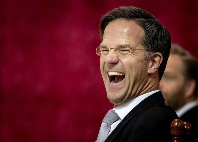 Demissionair premier Mark Rutte voorafgaand aan het voorlezen van de Troonrede in de Grote Kerk in Den Haag.