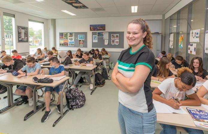 Dimara Knol hield vrijdag toezicht tijdens een les van een mavo-brugklas.