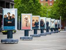 Portretten in hartje Amersfoort tegen huiselijk geweld: 'Ieder slachtoffer is er een te veel'