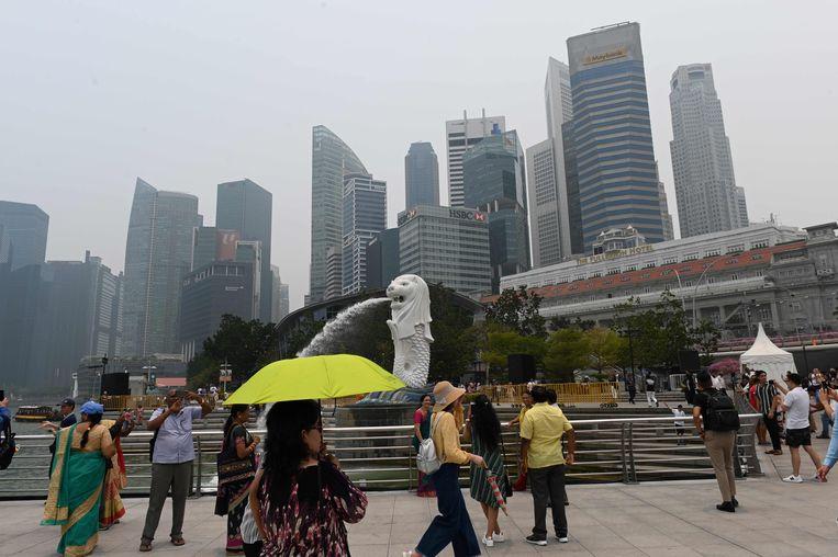 Merlion Park in Singapore. Beeld AFP