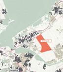 De voorgestelde locatie van Eemvallei Stad, tussen Almere en Zeewolde.