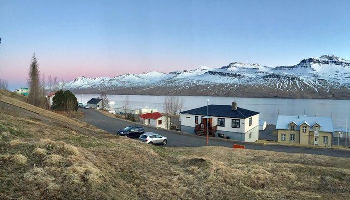 Fáskrúðsfjörður in IJsland.