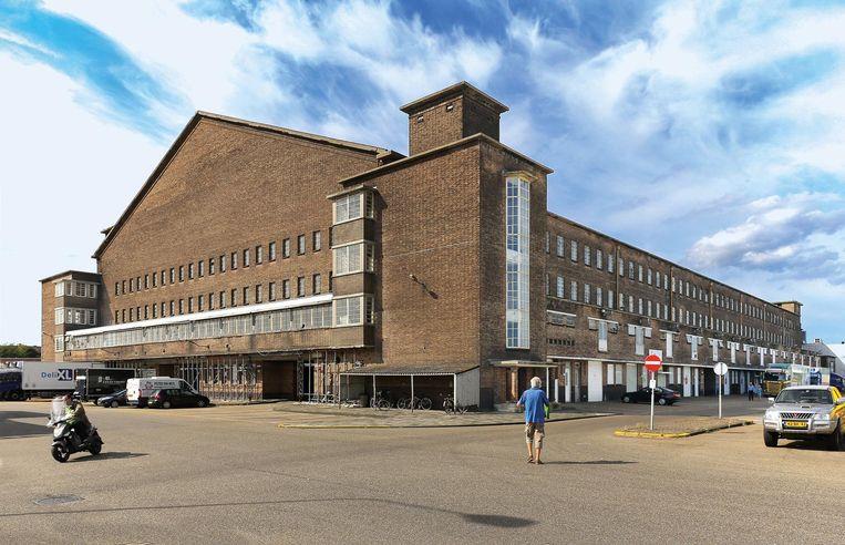 Centrale Markthallen, Jan van Galenstraat. Architect: Nico Lansdorp, 1934 Beeld Pim van Schaik