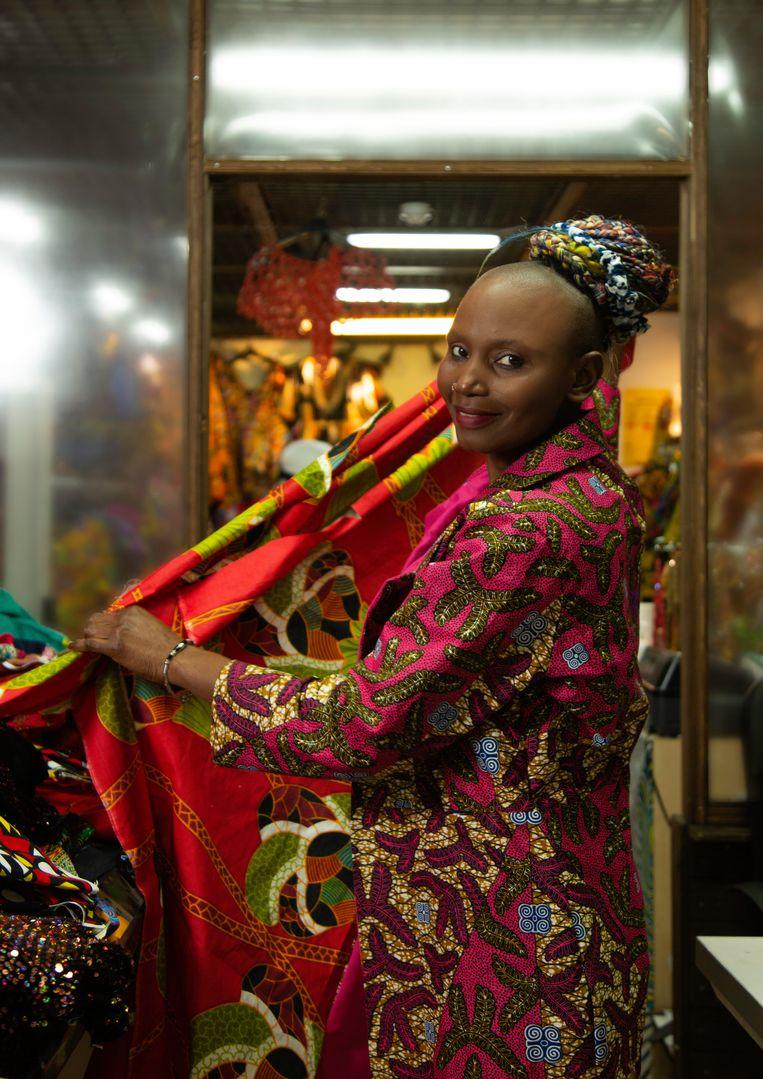 Eve Sawadogo van Africa-beauty Couture. Beeld Susanne Stange