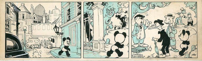 Fragment uit Panda en de Wereldverbeteraar (1949). Beeld Marten Toonder