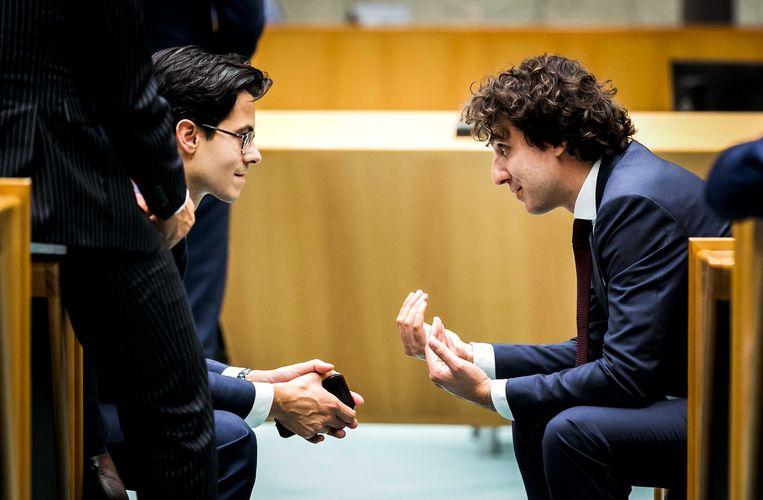 TikTok-gebruikers koppelen politici Jesse Klaver (GroenLinks) en Rob Jetten (D66) aan elkaar. Beeld ANP