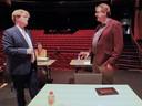 Jos van Ginneken (links) in het Scheldetheater in gesprek met vicefractievoorzitter Paul Balcaen.
