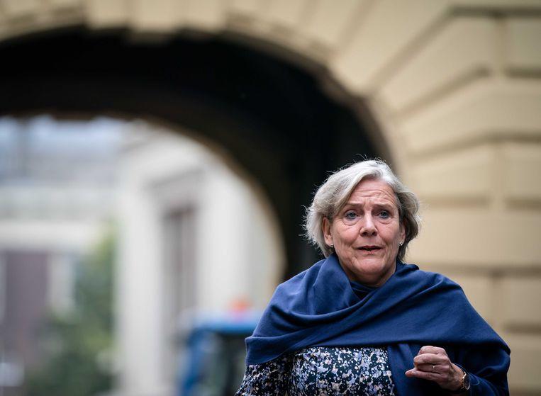 Minister Ank Bijleveld van Defensie (CDA) dient nu ook haar ontslag in. Beeld ANP