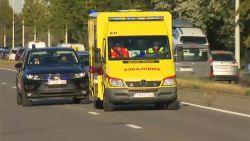 Koningin Paola geland op luchthaven Melsbroek en overgebracht naar ziekenhuis