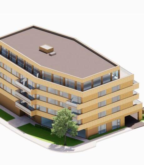 Nieuw appartementencomplex De Harmonie in Naaldwijk wordt geel