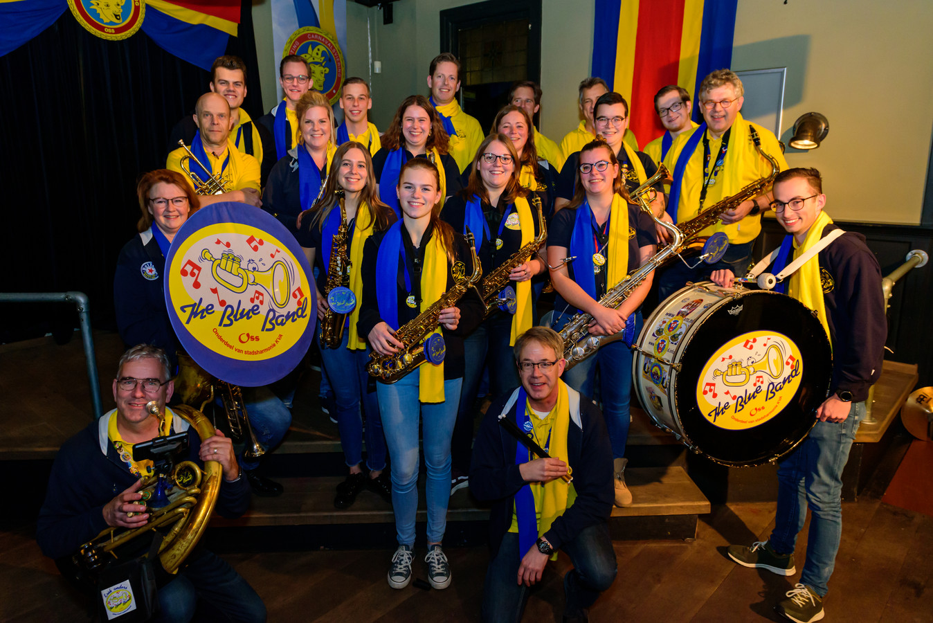 Dweilkapel The Blue Band viert zijn 22-jarig jubileum.