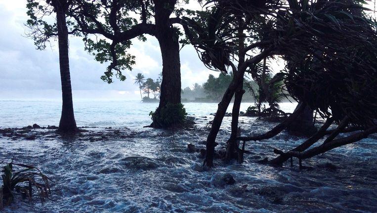 Overstroming op Marshalleilanden in 2014. Beeld ANP