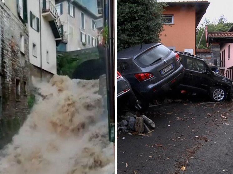 Straten in Noord-Italië veranderen in kolkende modderstromen