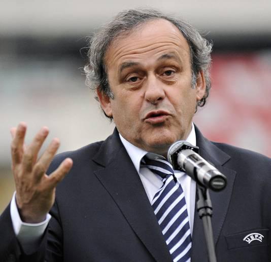 UEFA-voorzitter Michel Platini: geen voorstander van technologische hulpmiddelen.