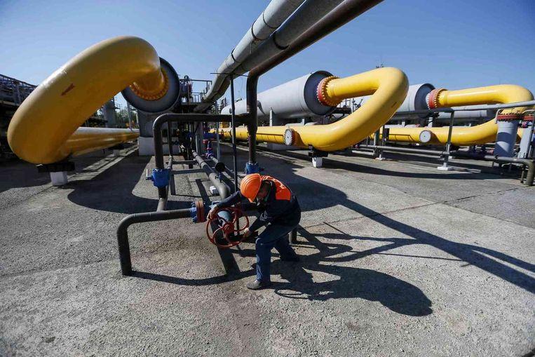 Een opslag voor gas in Oekraïne