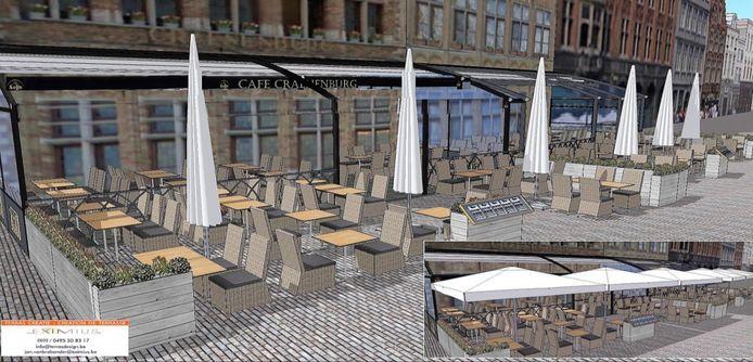 Zo zouden de nieuwe terrassen er moeten uitzien.