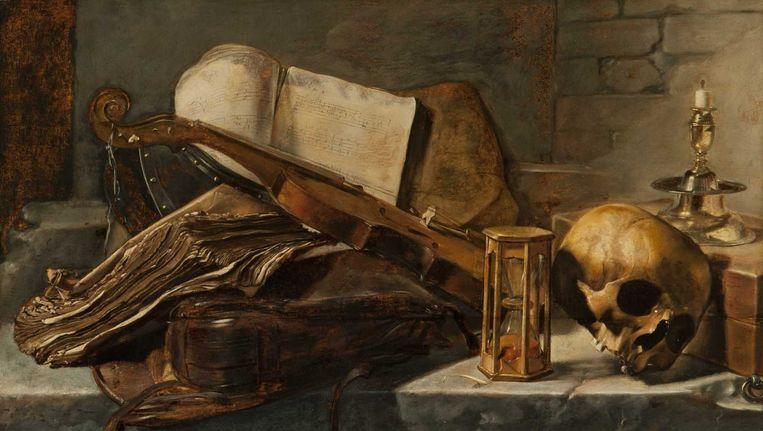 Een schilderij dat in 2010 werd ontdekt van Jan Lievens: Jan Lievens, Vanitasstilleven, olieverf op paneel, 1627, 59,6 x 97,2 cm, collectie Museum de Fundatie Zwolle, Heino-Wijhe. Beeld null