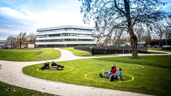 """Studenten chillen netjes per vier in kalkcirkels op het Kortrijkse gras: """"Een top burgerinitiatief"""""""