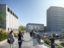 Zo komt de nieuwe entree van het centraal station in Nijmegen er aan de westkant uit te zien.