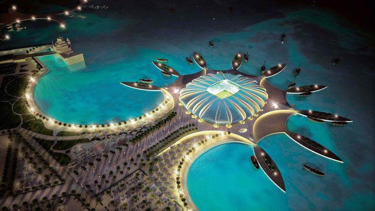 Eén van de stadions tijdens het WK 2022 in Qatar. Beeld ANP
