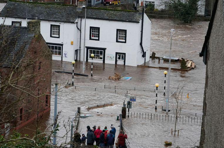 Zware overstromingen in Appleby-in-Westmorland, Cumbria.