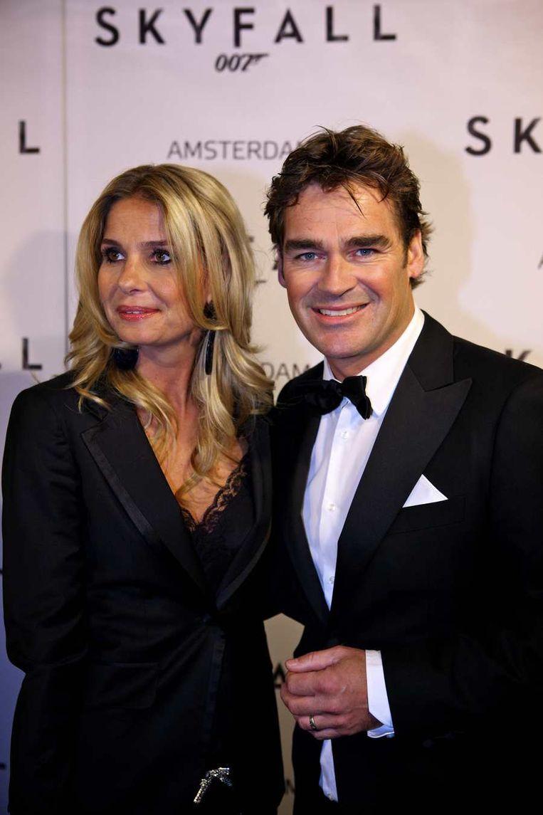 Zanger Jeroen van der Boom en zijn vrouw Dany. Beeld anp